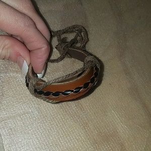 Jewelry - Leather Tie On Bracelet  Clearance Firm